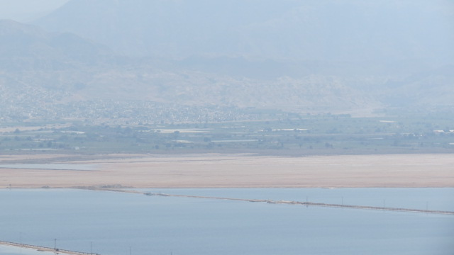 Mount Sodom - Dead Sea salt evaporation ponds