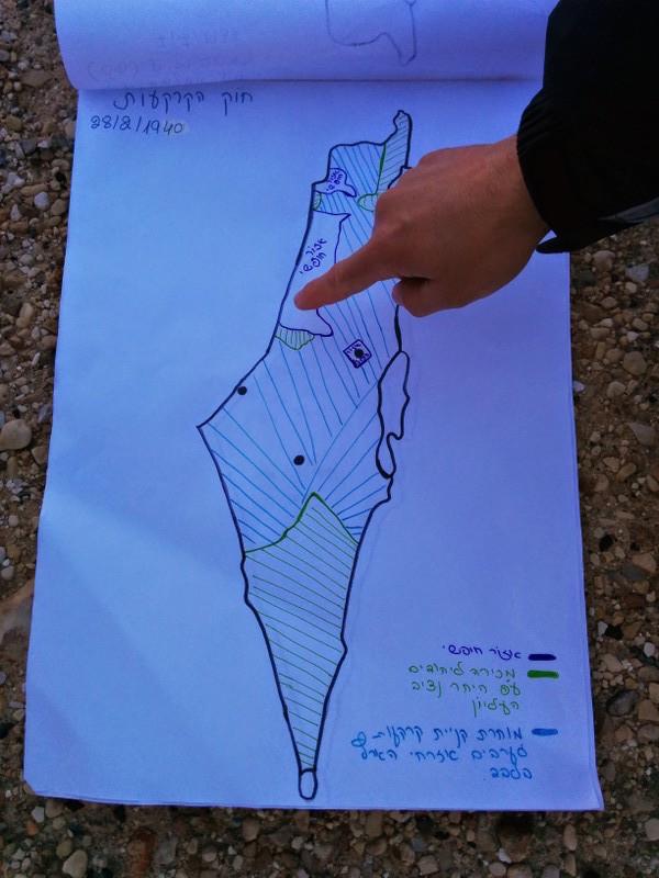 1940 Land Transfer Regulations map Mitzpe Revivim