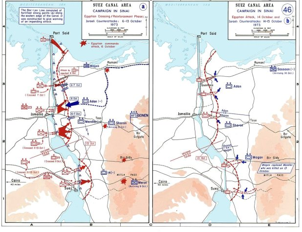 1973 Yom Kippur War Maps October 6–15.