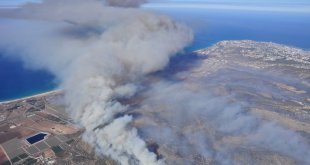 Mount_Carmel_forest_fire - Aerial view of the smoke over Haifa