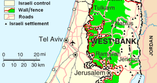 West_Bank_&_Gaza_Map_2007 - רשות הציבור