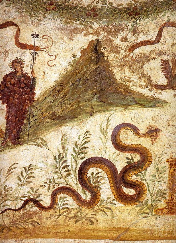 A wall painting in the House of the Centenary features the earliest known representation of Vesuvius