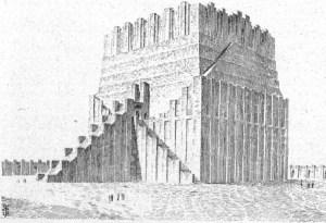 Reconstruction of Etemenanki after R. Koldewey (30th August 1919)
