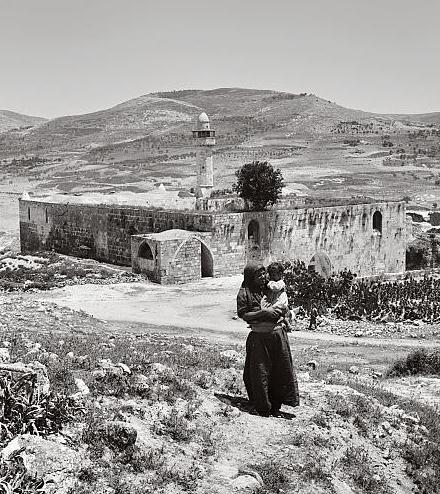 Nabi Yahya Mosque, the main mosque in the village of Sebastiya, near Nablus c._1920.