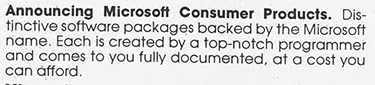 Microsoft Consumer Products