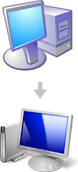 Windows XP vs Vista icons
