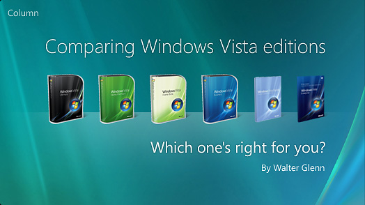 Comparing Windows Vista Editions