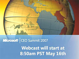 Microsoft CEO Summit 2007