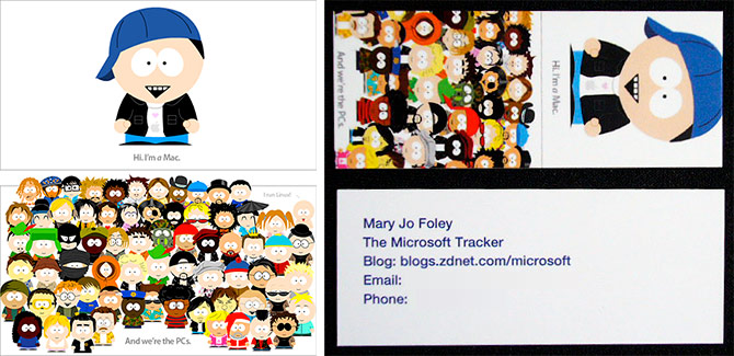 Mary Jo Foley business cards
