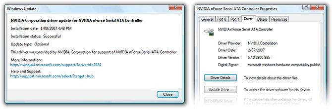 NVIDIA SATA driver update