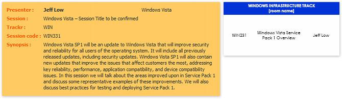 TechEd SEA Windows Vista SP1 session