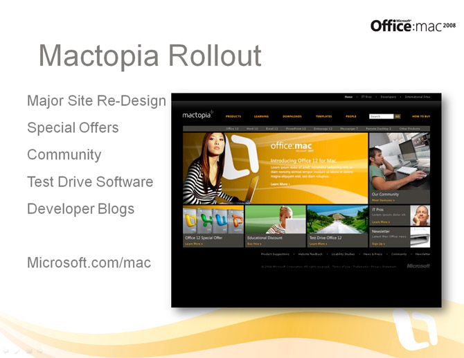 Mactopia website redesign