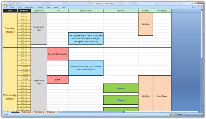 MIX08 Schedule