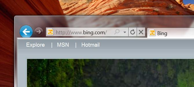 Internet Explorer 9 chrome