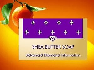 Shea body soap orange