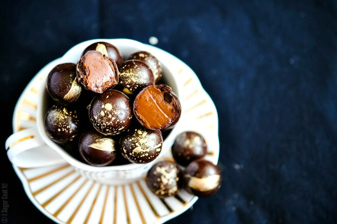 Baileys Salted Caramel Dark Chocolate Truffles