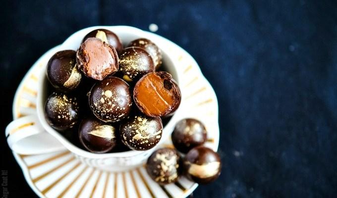 Baileys Salted Caramel Dark Chocolate Truffles