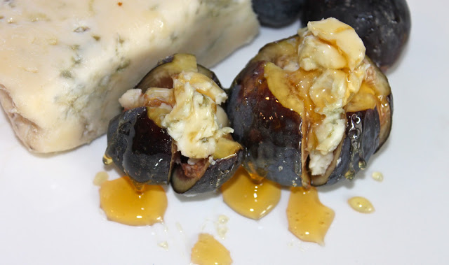 Gorgonzola Stuffed Figs with Drizzled Honey