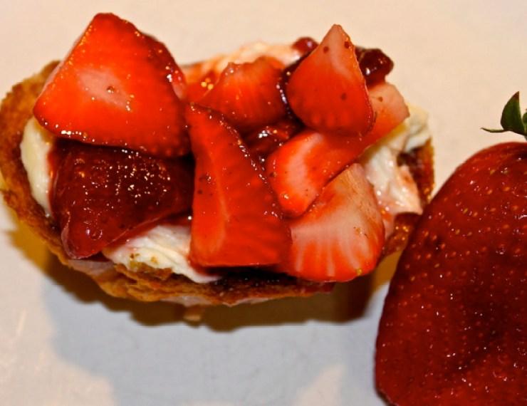 Strawberry Balsamic Crostini