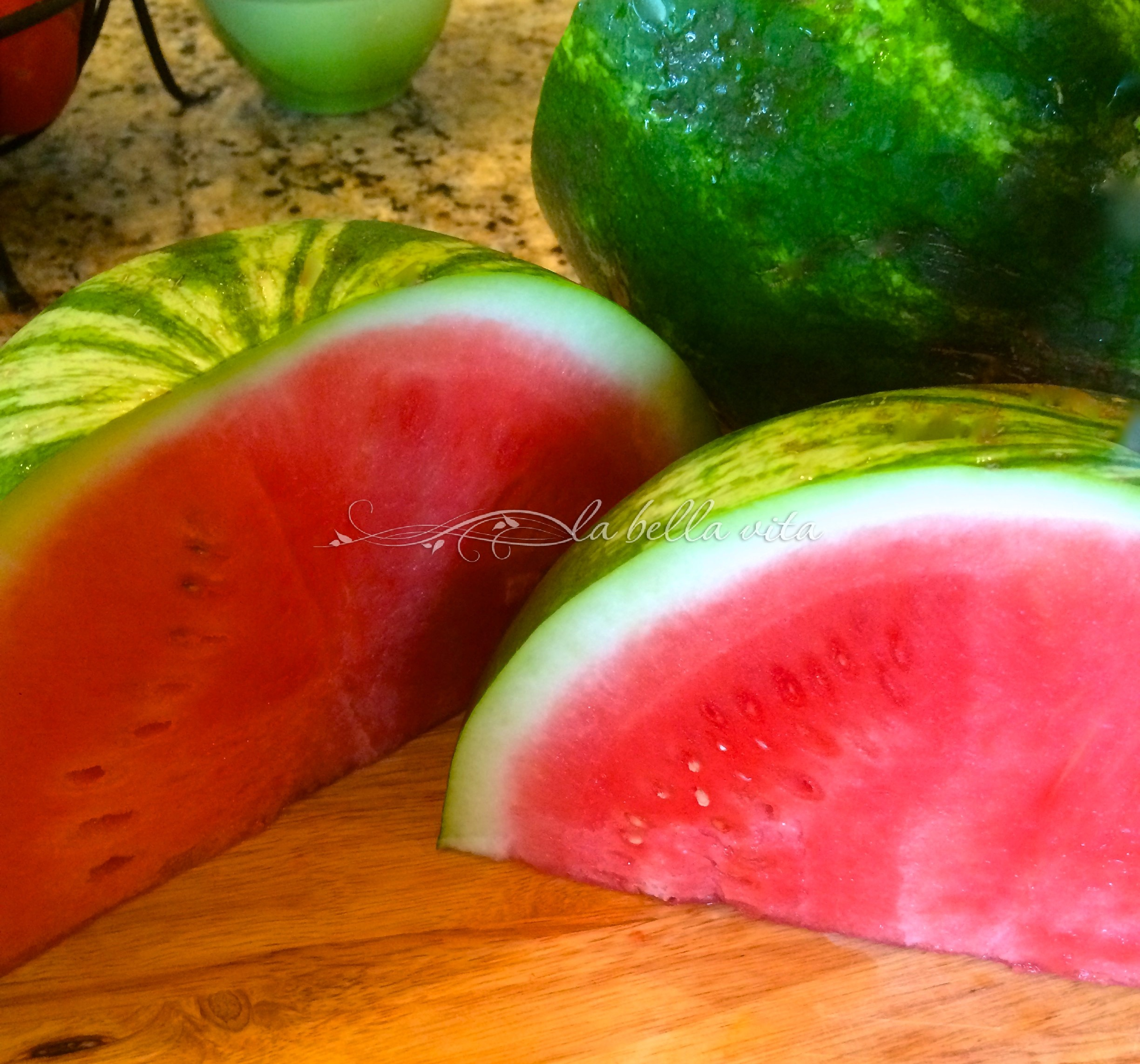 ... the brilliant rose-pink-red color of a fresh watermelon is so PRETTY