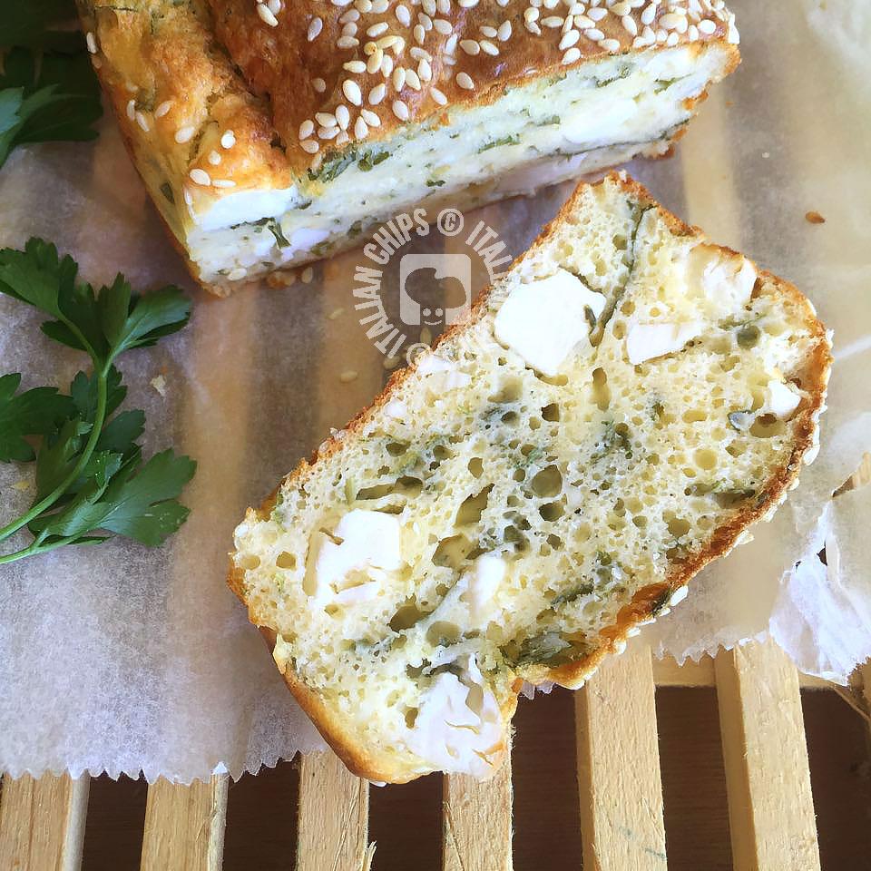 Herbs Bread With Feta Cheese