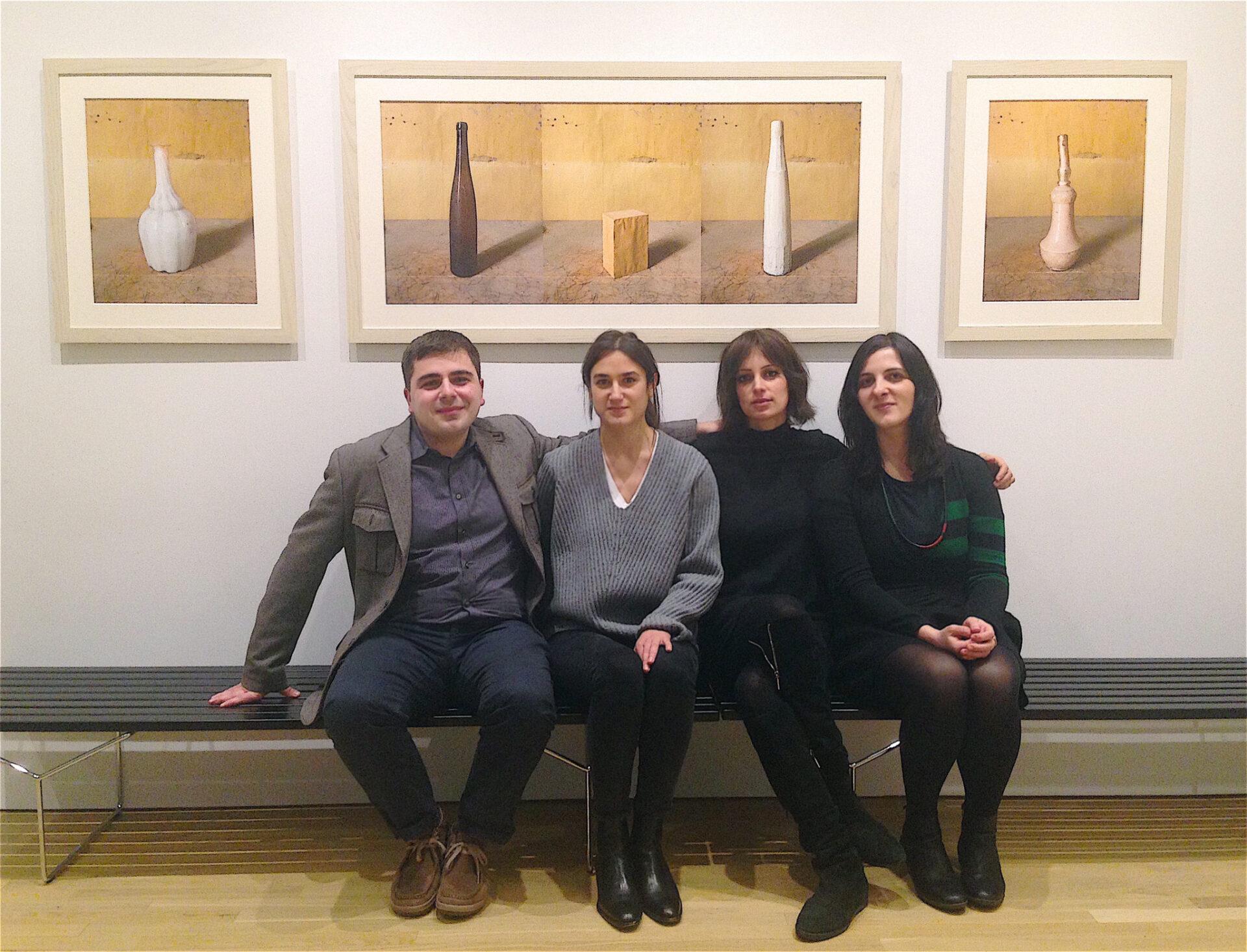 CIMA's 2015-16 Fellows: Nicola Lucchi, Matilde Guidelli-Guidi, Nicol Mocchi, and Lucia Piccioni