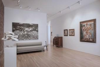 View of the Giorgio de Chirico - Giulio Paolini exhibition at CIMA, 2016. Photo by Walter Smalling Jr.
