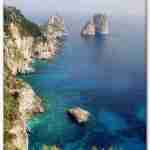 The Faraglioni Rocks off the Island of Capri Italy