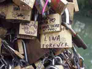 Love Locks on Rome's Ponte Milvio