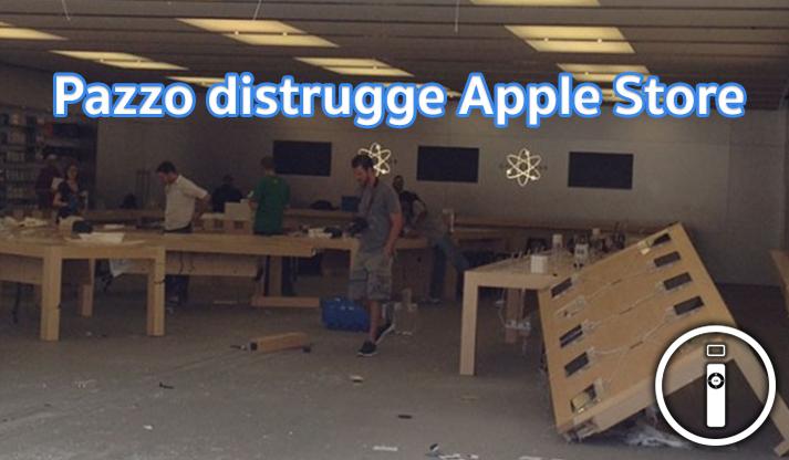 Cliente insoddisfatto distrugge Apple Store [VIDEO]
