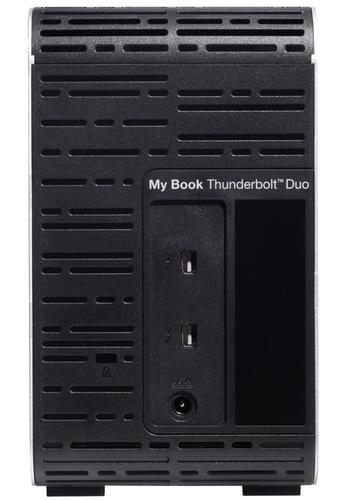 Western Digital My Book Thunderbolt Duo Dual-Drive Storage System back