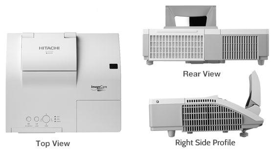 Hitachi CP-AW252WN Ultra Short Throw 3LCD Projector views