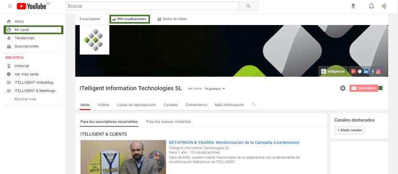 Metricas youtube