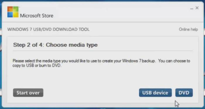 windows 7 usb dvd download tool choose media file