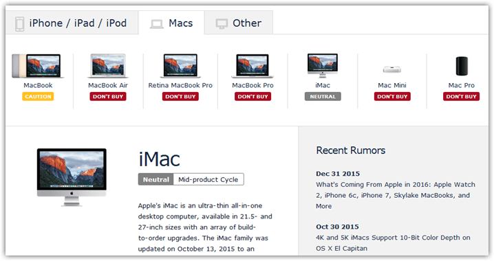 Upgrading Mac