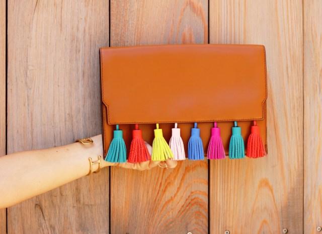 Tassel Clutch, Rebecca Minkoff Clutch, Colored Tassels