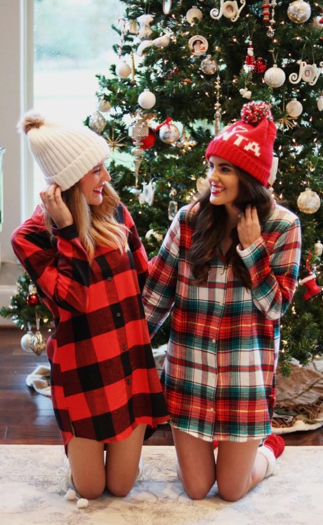 Blogger Christmas pajama party, Christmas pajamas, buffalo plaid pajamas