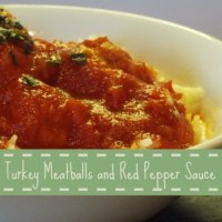 Turkey Meatballs with Red Pepper Sauce