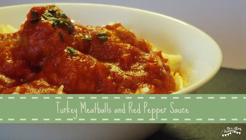 Turket Meatballs with Red Pepper Sauce