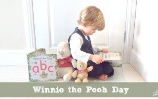 Boy Reading Winnie the Pooh Books
