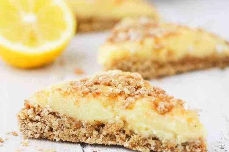 Creamy Lemon Crumble Bars