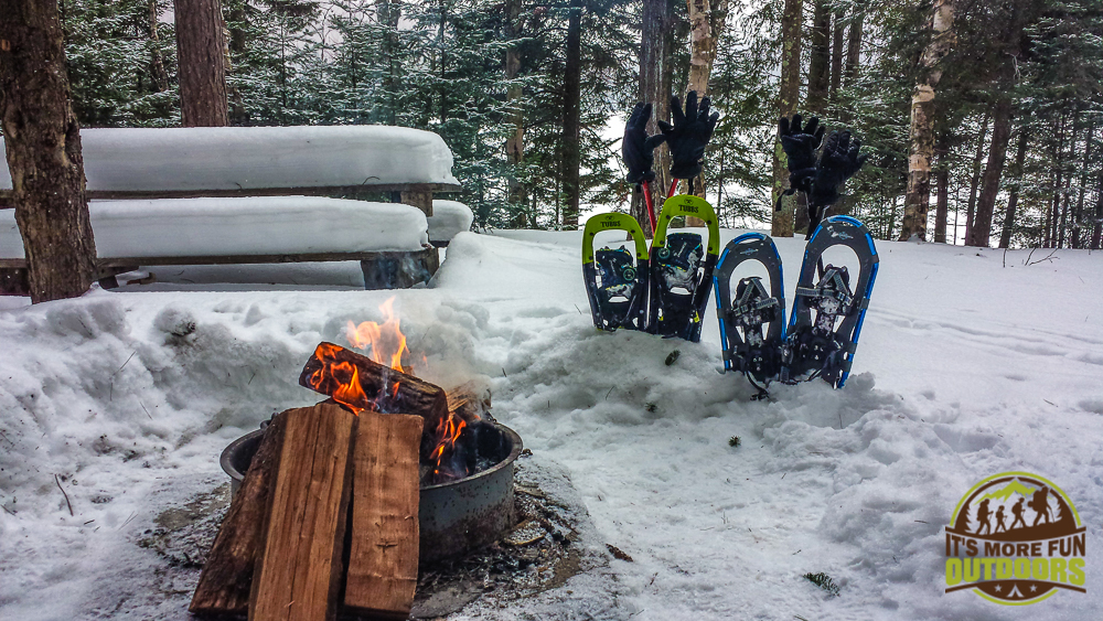 3.8.15: Back at our lean to camp after a sunrise summit on Mt Jo, Adirondacks, NY