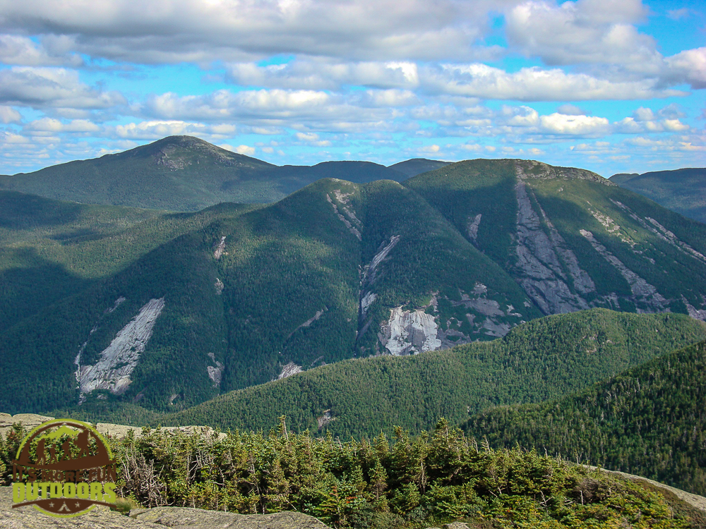 Mt. Marcy and Mt. Colden, seen from the summit of Wright Peak. A Summer summit of Wright Peak in the Adirondack Mountains of NY. August 7, 2010