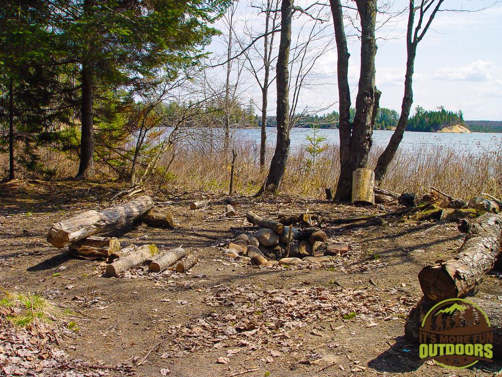 Nice place to sit with your coffee and enjoy a sunrise on campsite 20 on Low's Lake. 2015 BOG RIVER FLOW-CAMPSITE 20