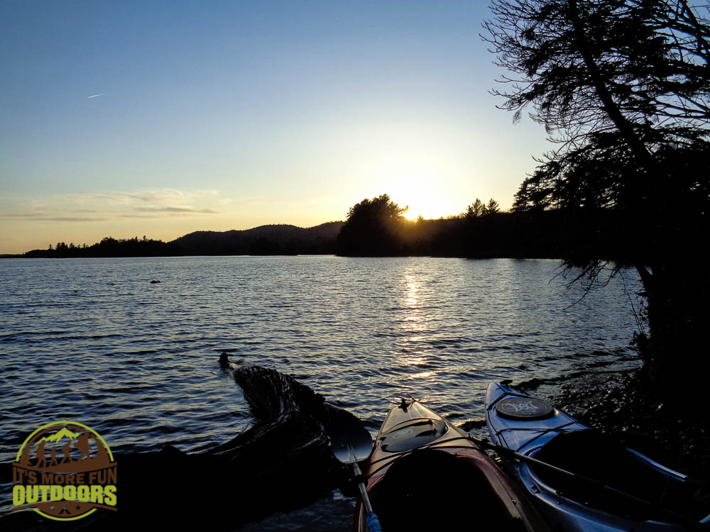 Sunset view from campsite #13 on Low's Lake, Bog River Flow. Unforgettable!