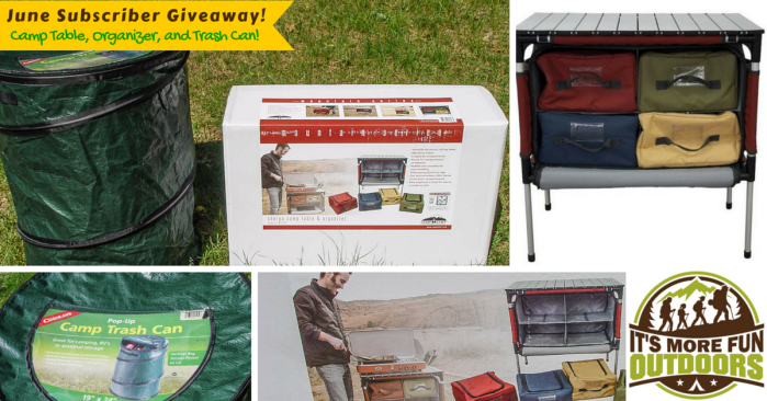 June Newsletter subscriber Giveaway! A Car Camping Chef Table & Organization Station!