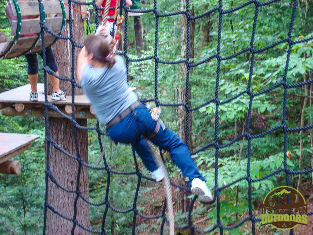 SPLAT!!! Adirondack Extreme Treetop Obstacle Zipline Course in Bolton Landing/Lake George area,  upstate NY!