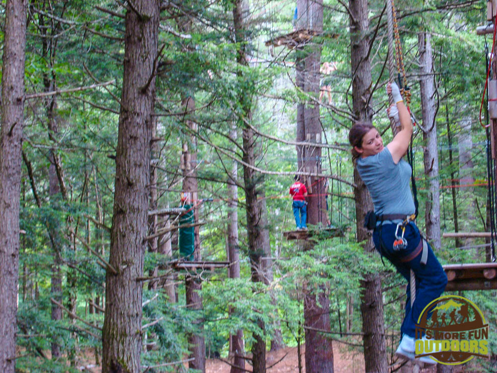 Gettin' my Tarzan on!!! Adirondack Extreme Treetop Obstacle Zipline Course in Bolton Landing/Lake George area,  upstate NY!