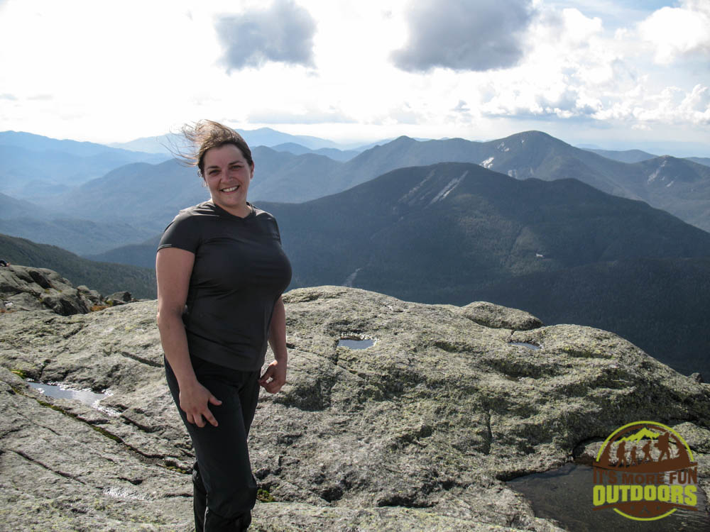 Me on the summit of Mt. Marcy, the tallest mountain in NY State. A 15-mile round trip hike from the Adirondak Loj, Lake Placid, Adirondacks, NY