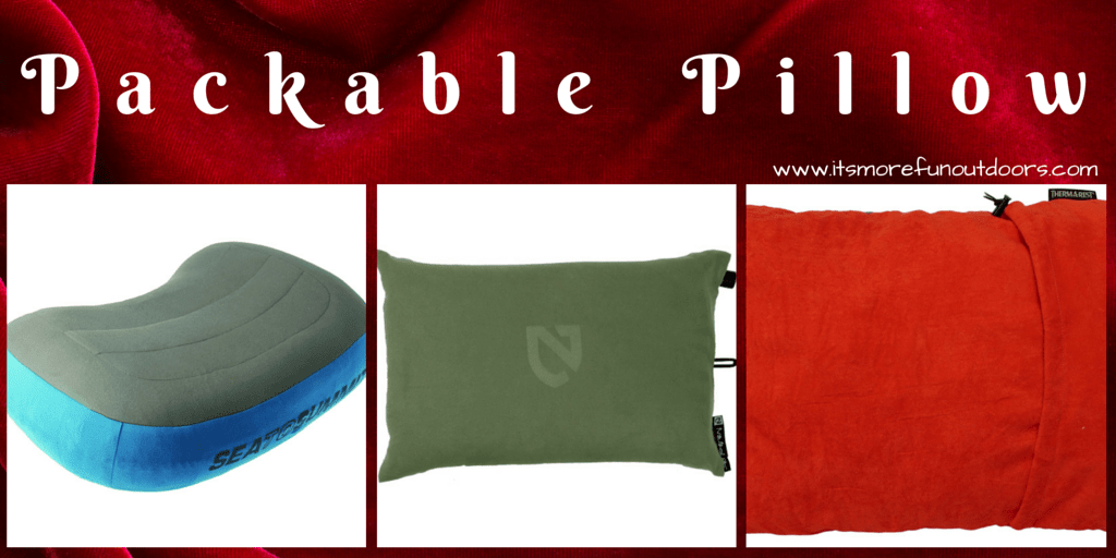 PACKABLE CAMPING PILLOW-One of 25 Awesome, Essential Stocking Stuffers to Give Outdoor Lovers!